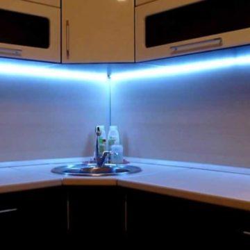 Светодиодный светильник для кухни своими руками