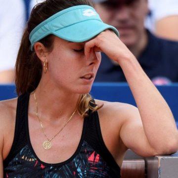 Французская теннисистка сняла майку на корте и изменила правила тенниса