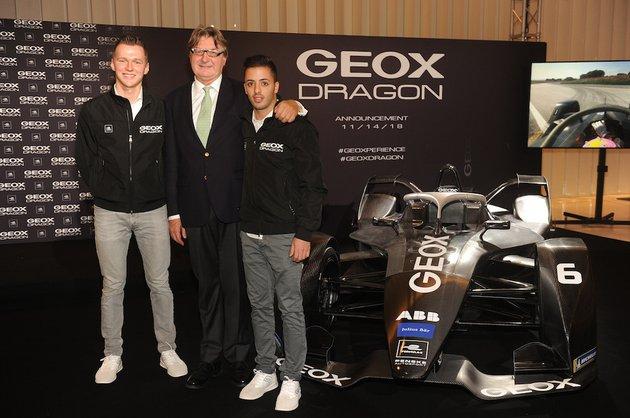 Geox стал титульным партнером команды Dragon ABB FIA Formula E
