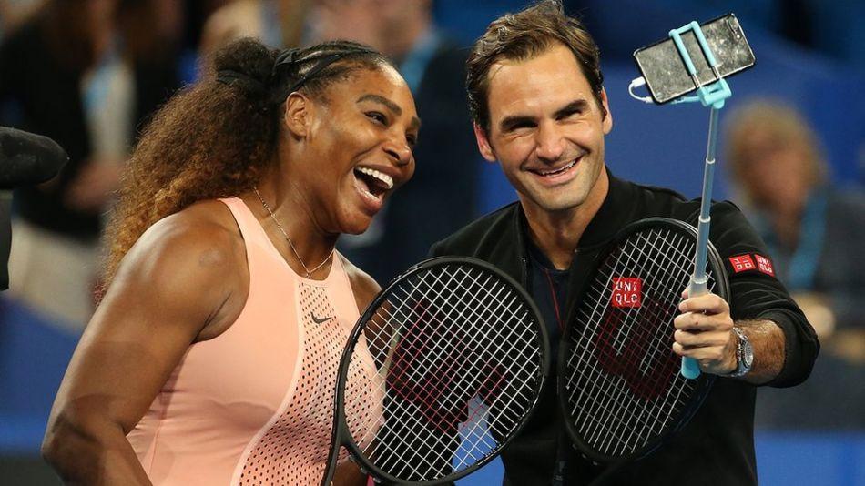 Серена Уильямс и Роджер Федерер впервые встретились на корте